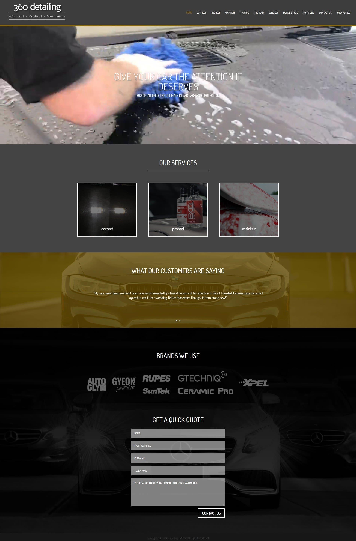 360 Detailing Website Design
