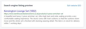 Shopify SEO description