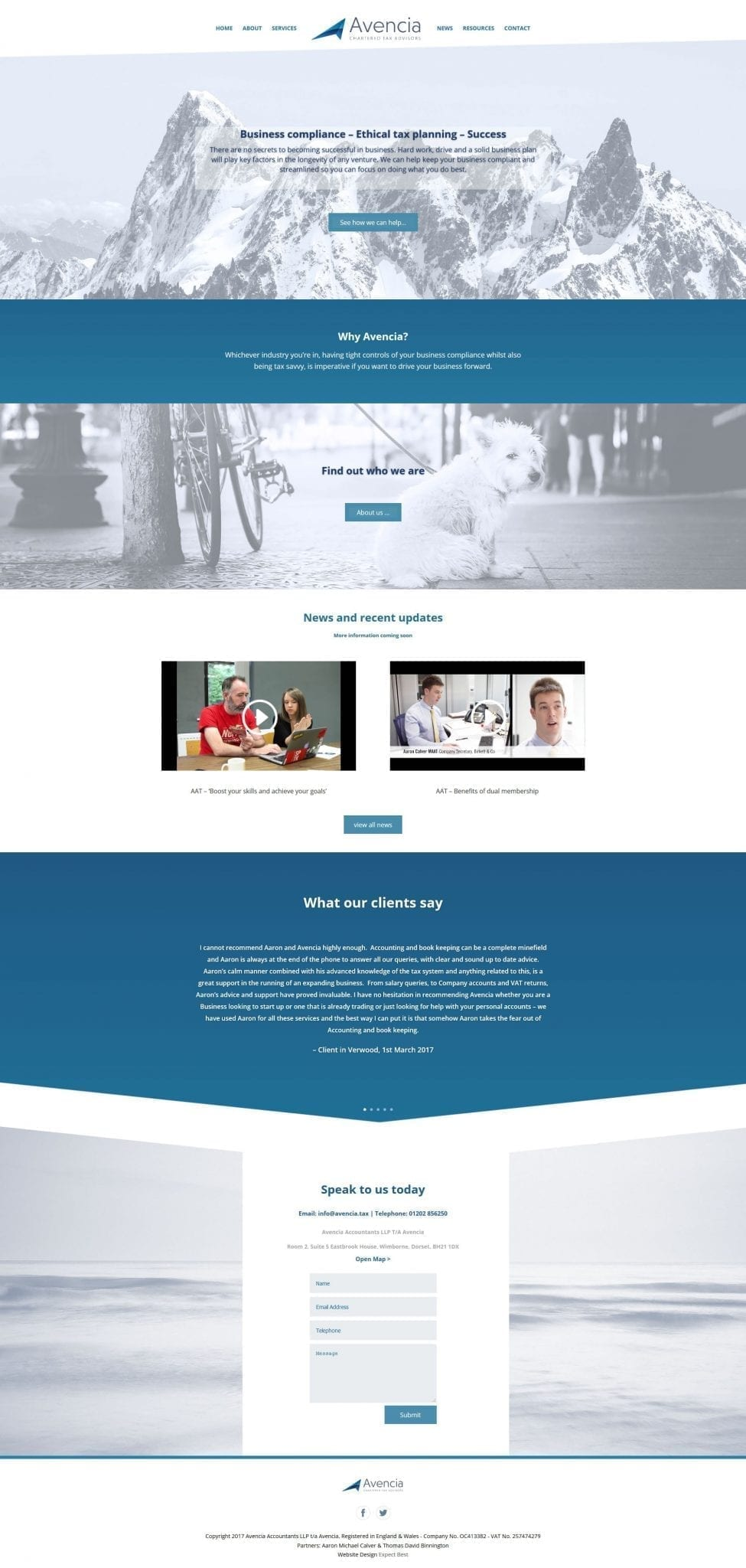 Avencia Bournemouth Website Design