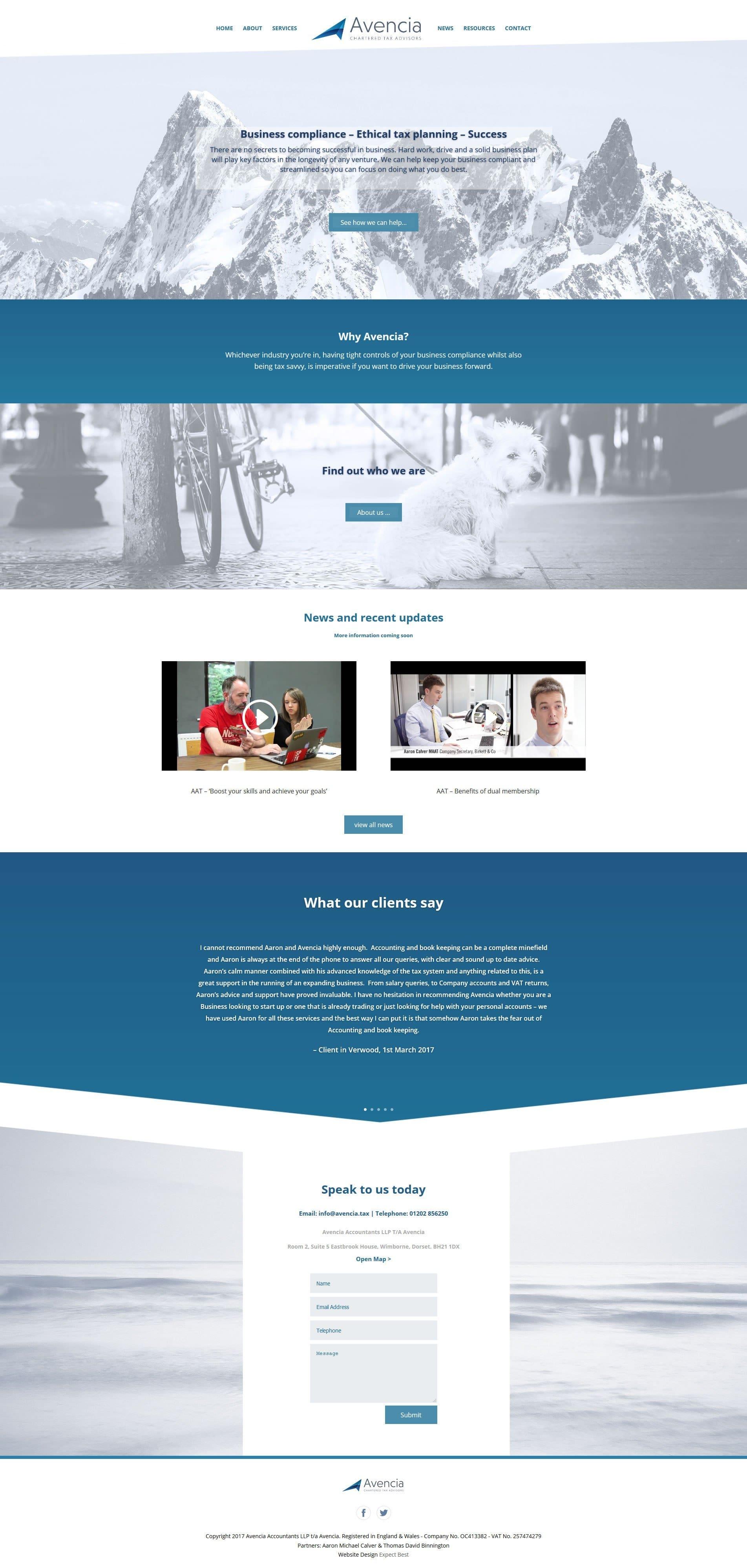 Avencia Bournemouth Website Design