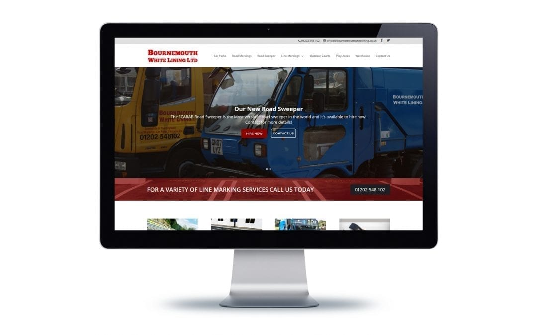 Web Design – Bournemouth White Lining