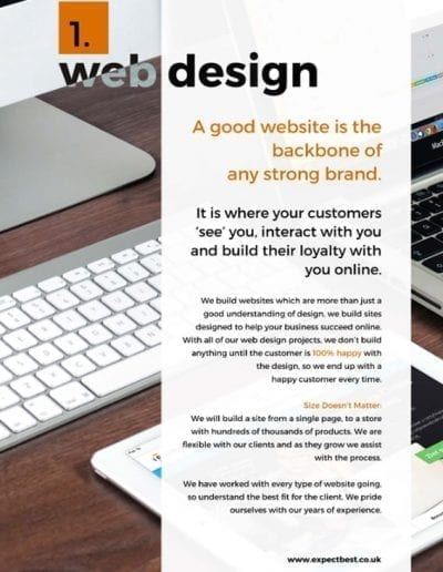 expect best web agency poole brochure design image 3