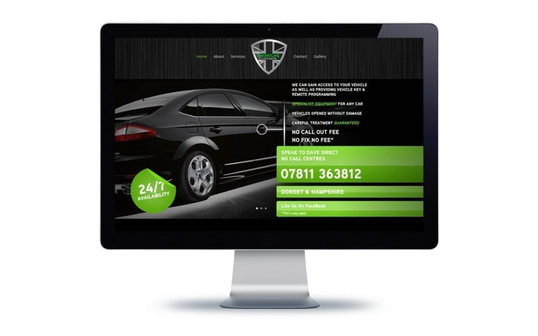 Web Design – Frontline Locksmith Bournemouth