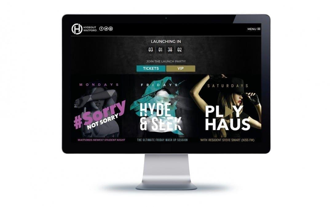 Hydeout Watford Website Design