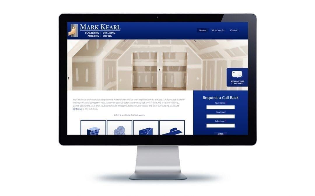 Web Design – Mark Kearl Plastering Bournemouth