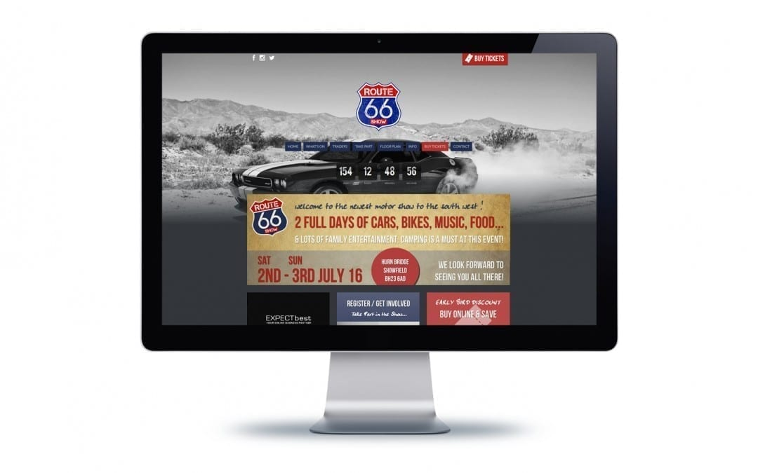Route 66 Show Website Design