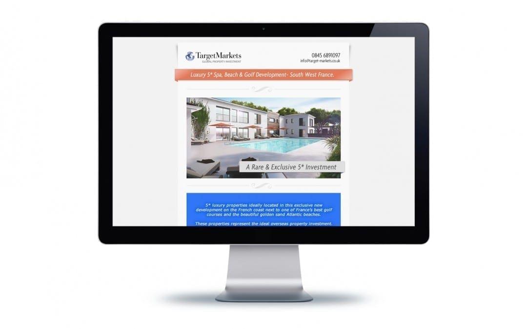 Target Markets Email Flyer Design
