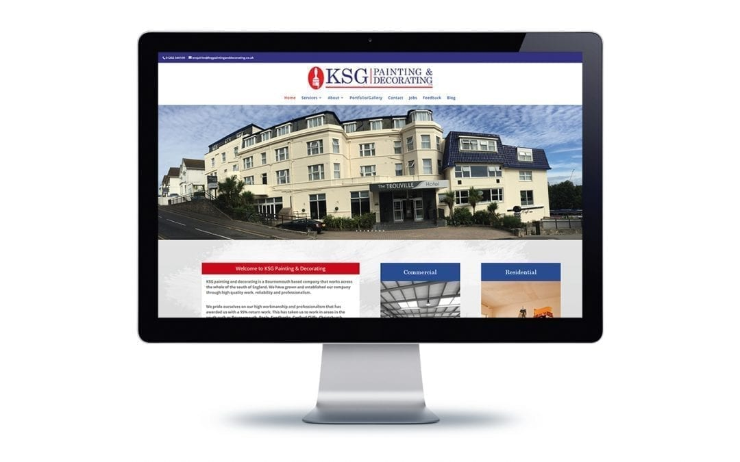 Web Design – KSG Decorating Bournemouth