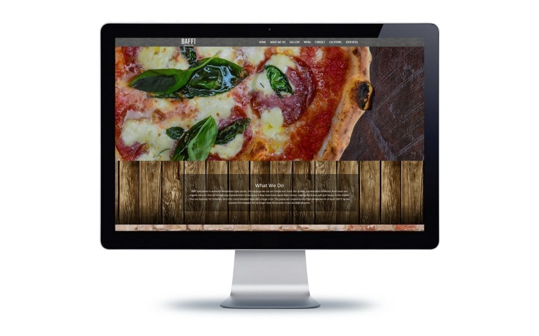 Web Design Bournemouth – Baffi Pizza
