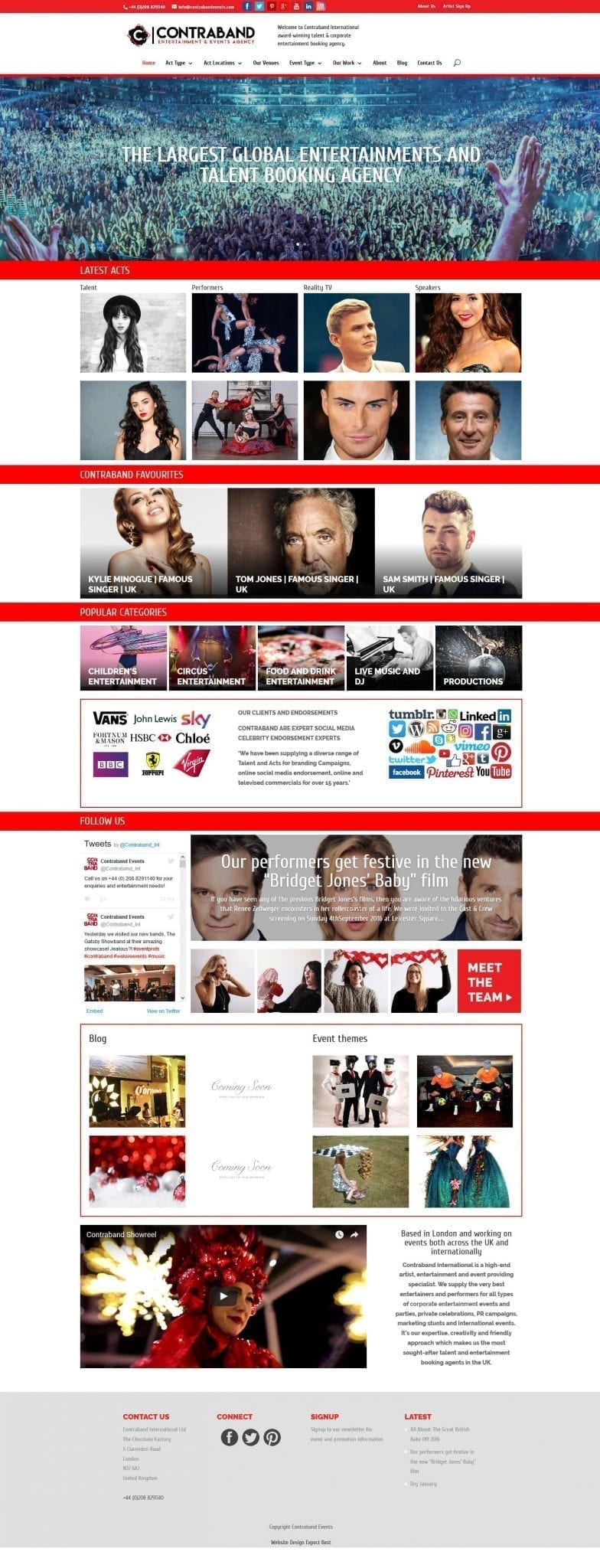 Web Design Contraband Events